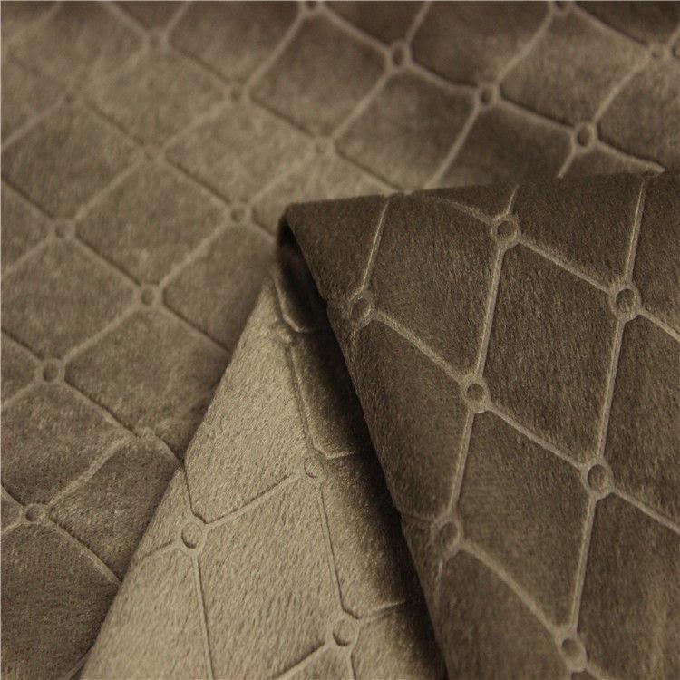 Waschbares Sofa-Stoff Gewebe prägeartiger Microfiber ...