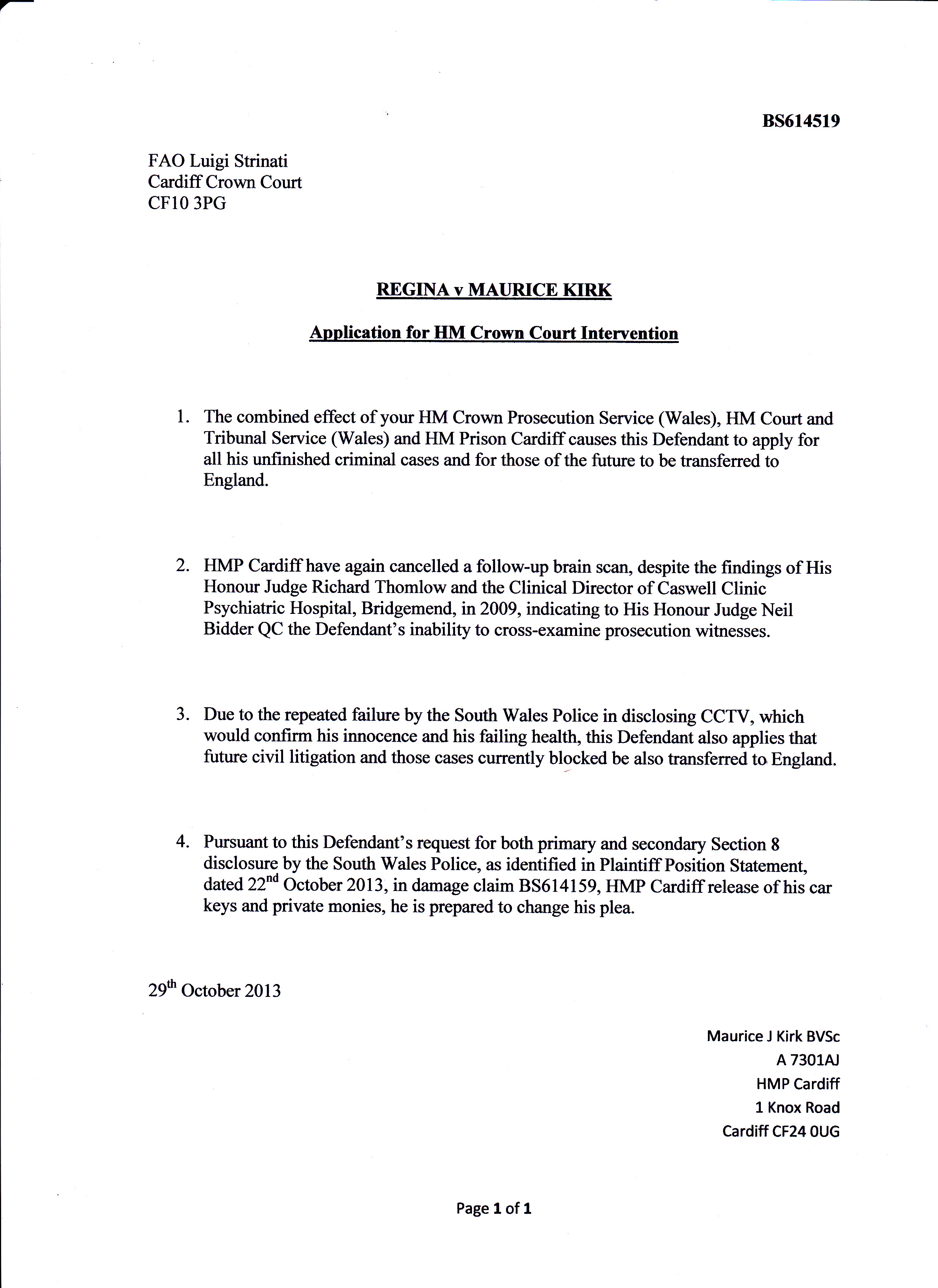 Fao Letter Example
