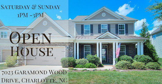 OPEN HOUSE ~ Saturday & Sunday ~ 9/9 - 9/10 ~ 1PM - 3PM ~ 7023 Garamond Wood Drive, Charlotte NC 28278 • Homes Fort Mill and Homes Tega Cay