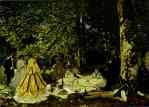 Claude Monet.  O Picnic (Le déjeuner sur l'herbe).
