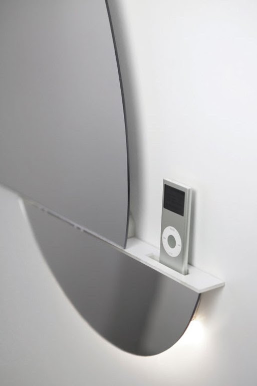 Supermodern Mirror With iPod/iPhone Docking Station | DigsDigs