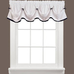 Saturday Knight Ltd Kate Collection High Quality Stylish Classic & Beautiful Look Window Tier, Swag & Valance - 58x13 Black