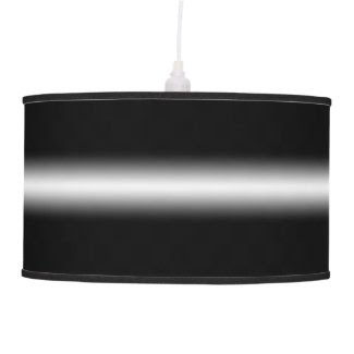 Faded White Stripe on Black Hanging Lamps