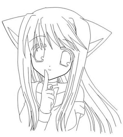 anime coloring pages  girls cute anime girl