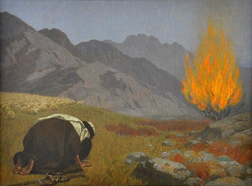Gebhard Fugel Moses vor dem brennenden Dornbusch c1920