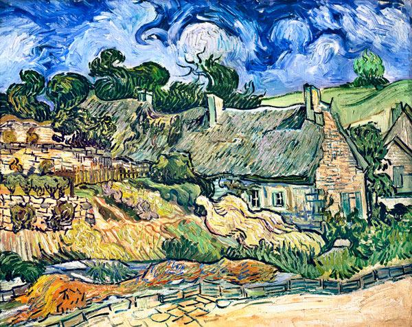Vincent Van Gogh - Thatched cottages at Cordeville, Auvers-sur-Oise