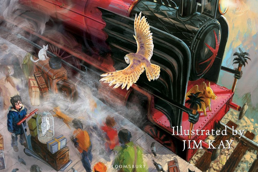 Bilderesultat for harry potter illustrated