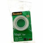 Scotch Magic Tape, Transparent, 0.75in X 500in