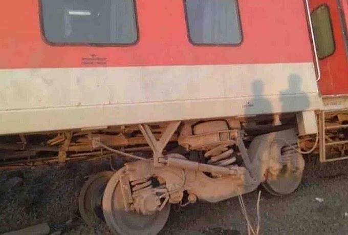 महाराष्ट्र: प्लेटफार्म पर पहुंचते ही यात्रियों से भरी ट्रेन पटरी से उतरी, बाल-बाल बचे यात्री