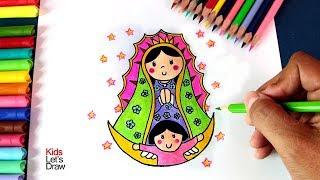 Dibujo Virgen De Guadalupe