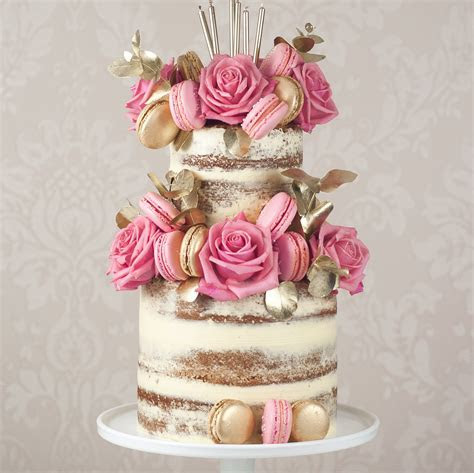 The Most Beautiful Semi Naked Wedding Cakes   hitched.co.uk