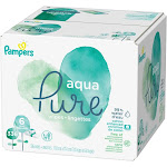 Pampers Aqua Pure Sensitive Baby Wipes - 336 count
