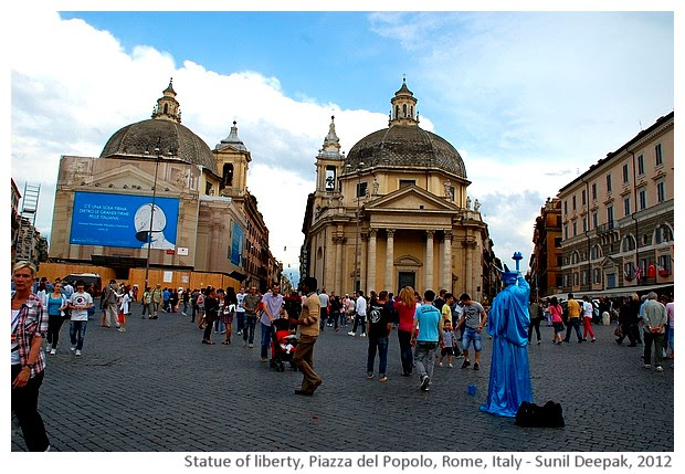Piazza del Popolo, Rome, Italy - images by Sunil Deepak, 2005-14