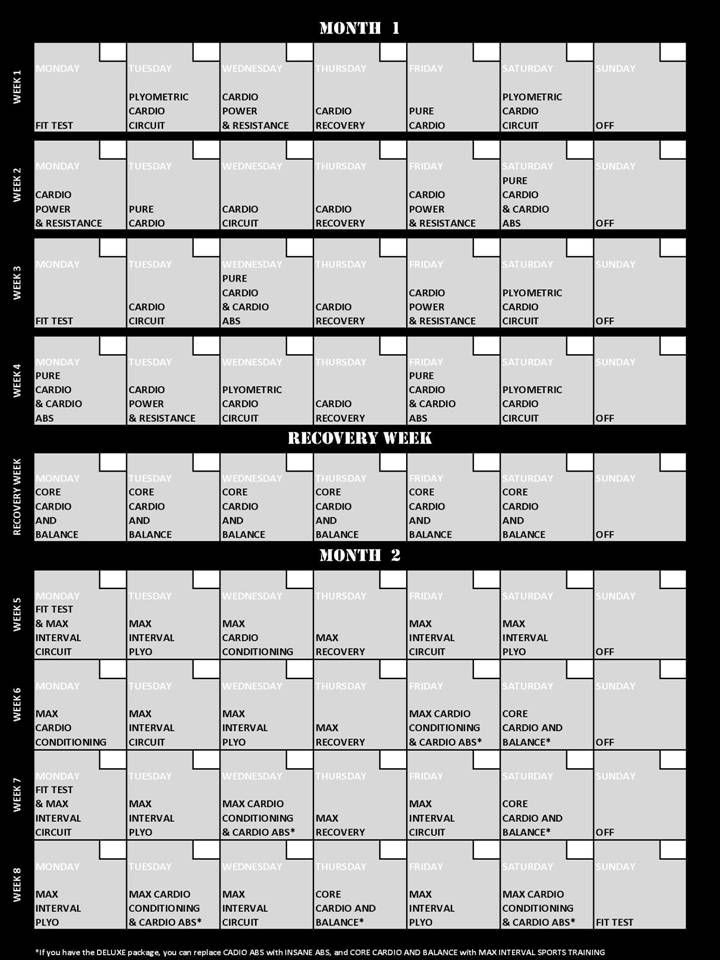 1000+ ideas about Insanity Workout Schedule on Pinterest ...