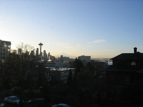 Mt Rainier Seattle winter
