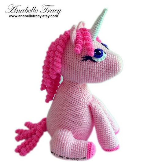 Unicorn Doll Stuffed Toy for Girls Gift for by anabelletracy