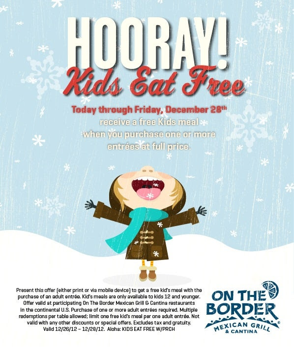 Post-holiday Kids Eat Free
