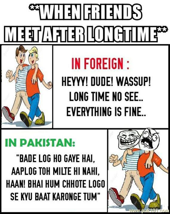 Funny Picture Friends Meet After A Long Time Pak101com