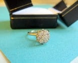 Vintage 1950's  Posey Cluster Engagement Ring