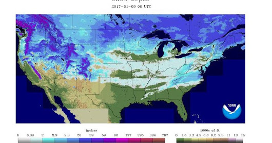 Snow is on the ground in 49 of 50 states