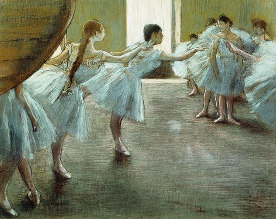 Edgar Degas - Dancers at Rehearsal,