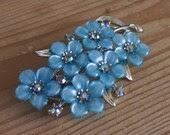 Vintage mid 1950s Coro Floral Brooch
