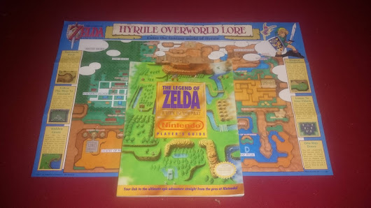 My Legend of Zelda: A Link to the Past map and game guide. The map came packed in with the game and the guide was made by the Nintendo Power guys. - Imgur
