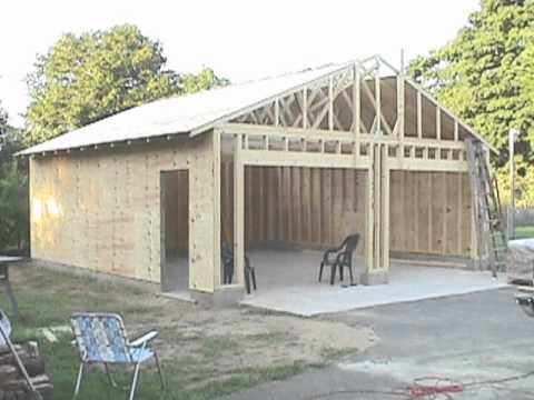 Building your own 24'X24' garage and save money. Steps ...
