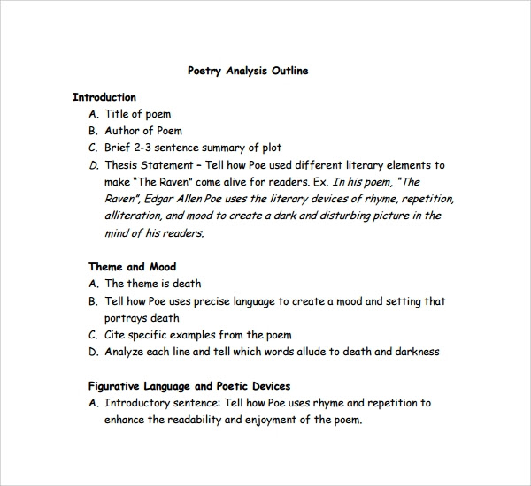 how to write a poetry analysis essay example