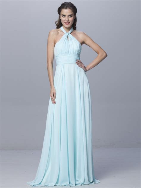 1 Baby Blue Infinity Dress, Long Wrap Dress, Floor length