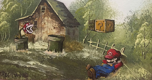 This Guy Inserts Pop Culture Characters Into Old Thrift Store Paintings