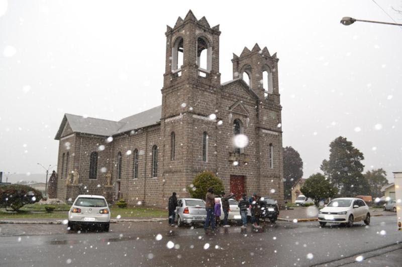 Neve em São Joaquim, na Serra catarinense:imagem 64