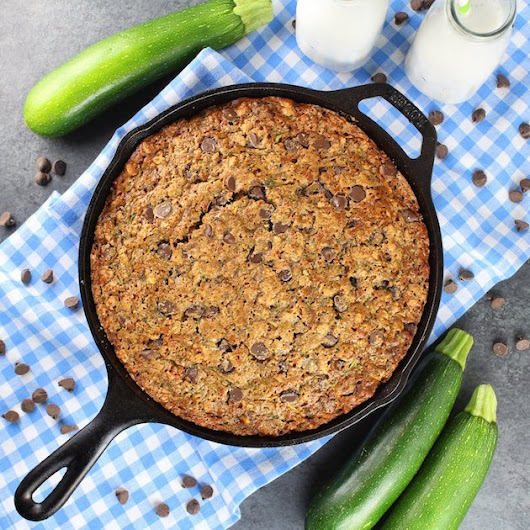 Chocolate Chip Zucchini Skillet Cake | Taste And See