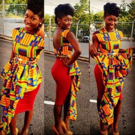 Kente Cloth   Ghana Kente Dress Styles   DeZango
