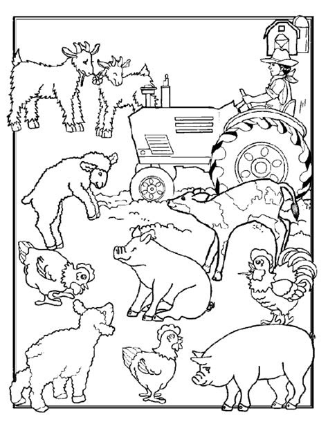 coloring page farm animals coloring pages