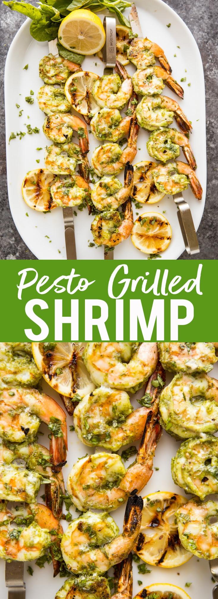 Pesto Grilled Shrimp  Fox and Briar
