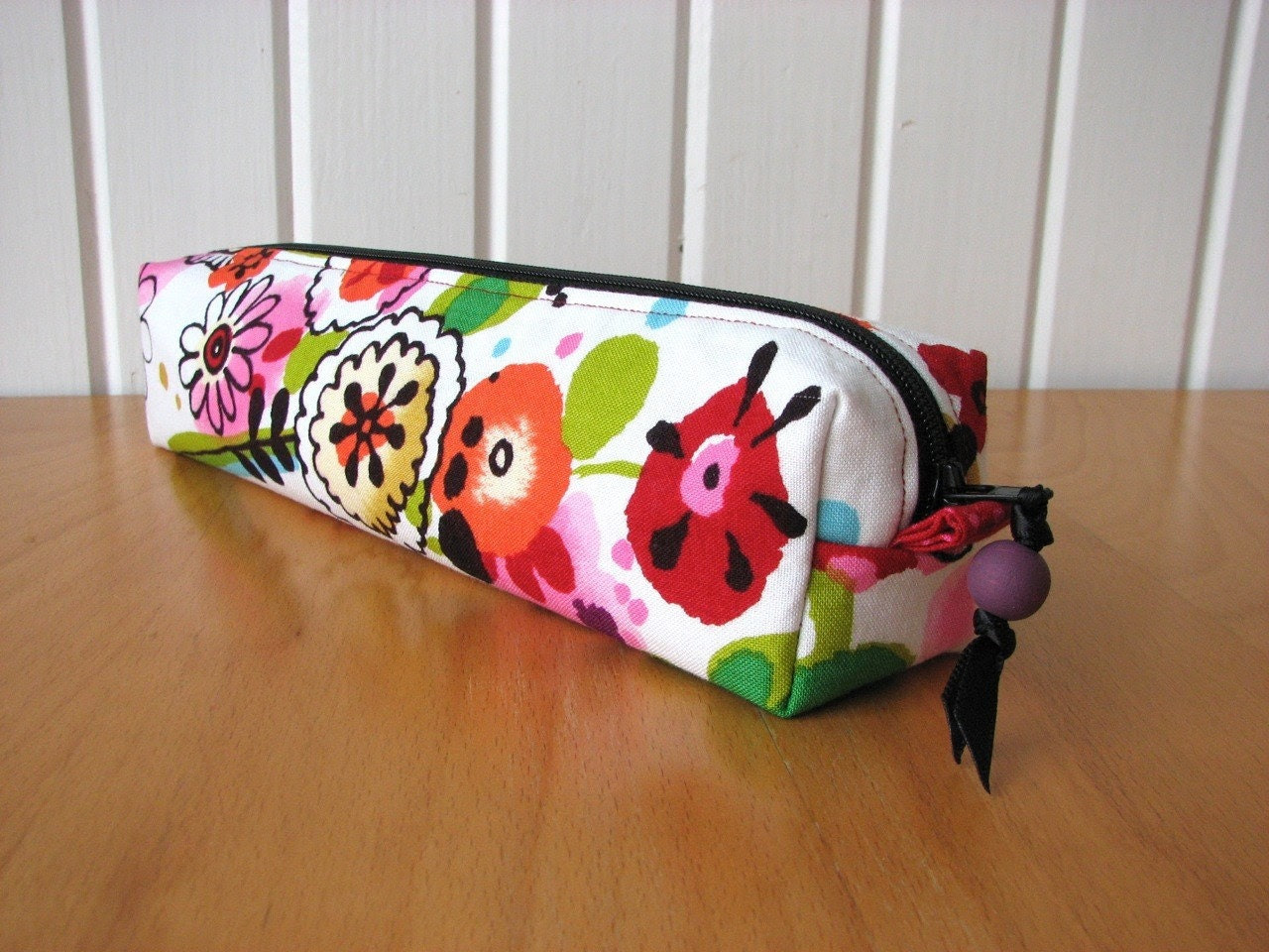 Zipper Pouch in Larkspur Meadow in Brite - ready to ship