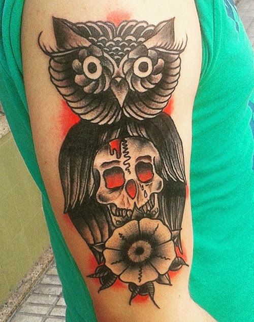 Skull Flowers Tattoo Meaning Flowers Healthy