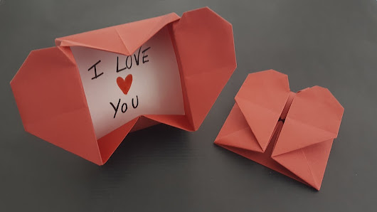 En Este Video Veremos Como Hacer Una Caja Plegable Con Forma De - Origami-corazn