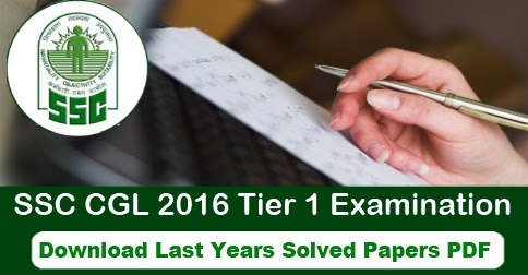 SSC CGL Question Paper with Solution