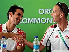 Nathan Robertson (left) and Team England chef de mission Craig Hunter