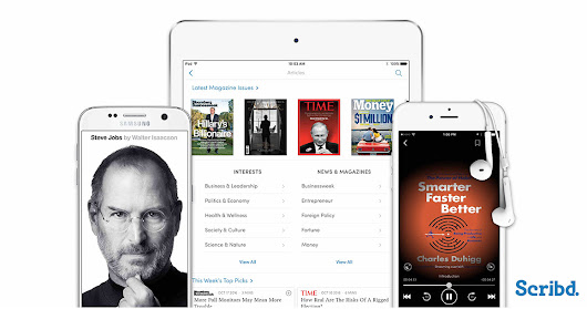 Scribd to add access to magazines to eBook membership services