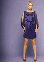 Nu Collective Silk Charmeuse Dress in Violet