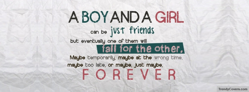 A Boy And A Girl Facebook Cover Trendycoverscom