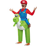 Disguise Mario Riding Yoshi Child Costume - Blue/Green/Red - One Size