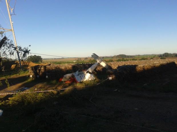 Acidente avião Cruz Alta RS (Foto: Eveline Poncio/RBS TV)