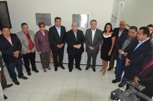 A inauguração contou com a presença de magistrados e autoridades do Executivo e Legislativo municipal (Foto: Ribamar Pinheiro)