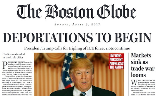 Boston Globe goes full cuckoo, publishes 100% fake newspaper edition to try to destroy vaccine critic Donald Trump with hoax headlines parading as truth-to-be