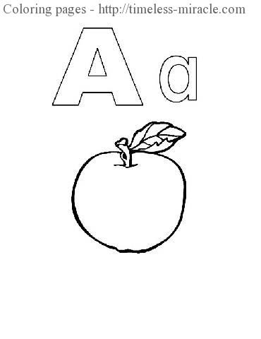 preschool coloring pages alphabet  timelessmiracle
