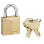 "Master Lock 120d Solid Brass Pin Tumbler Padlock, 3/4"""